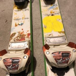 Vokl twin tip skis with Marker Jester binding used